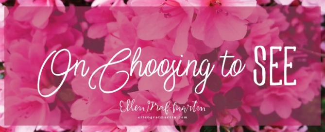 On Choosing To SEE {Ellen's Picks Link Up}