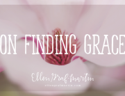On Finding Grace