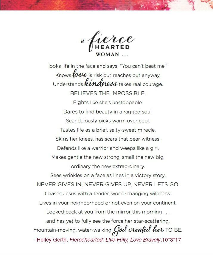 Fiercehearted Manifesto