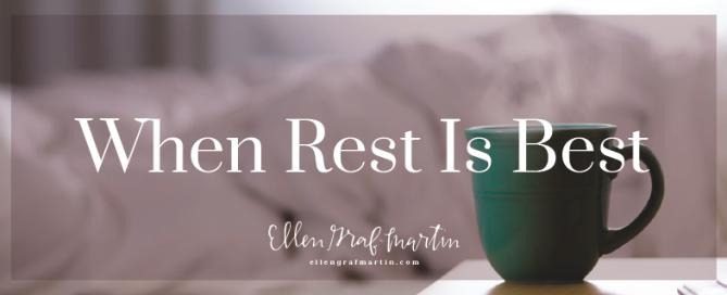 When Rest is Best header